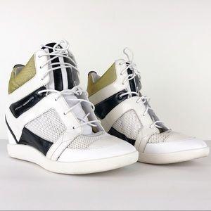 YOHJI YAMAMOTO  Y-3 Sukita Wedge High Top Sneakers